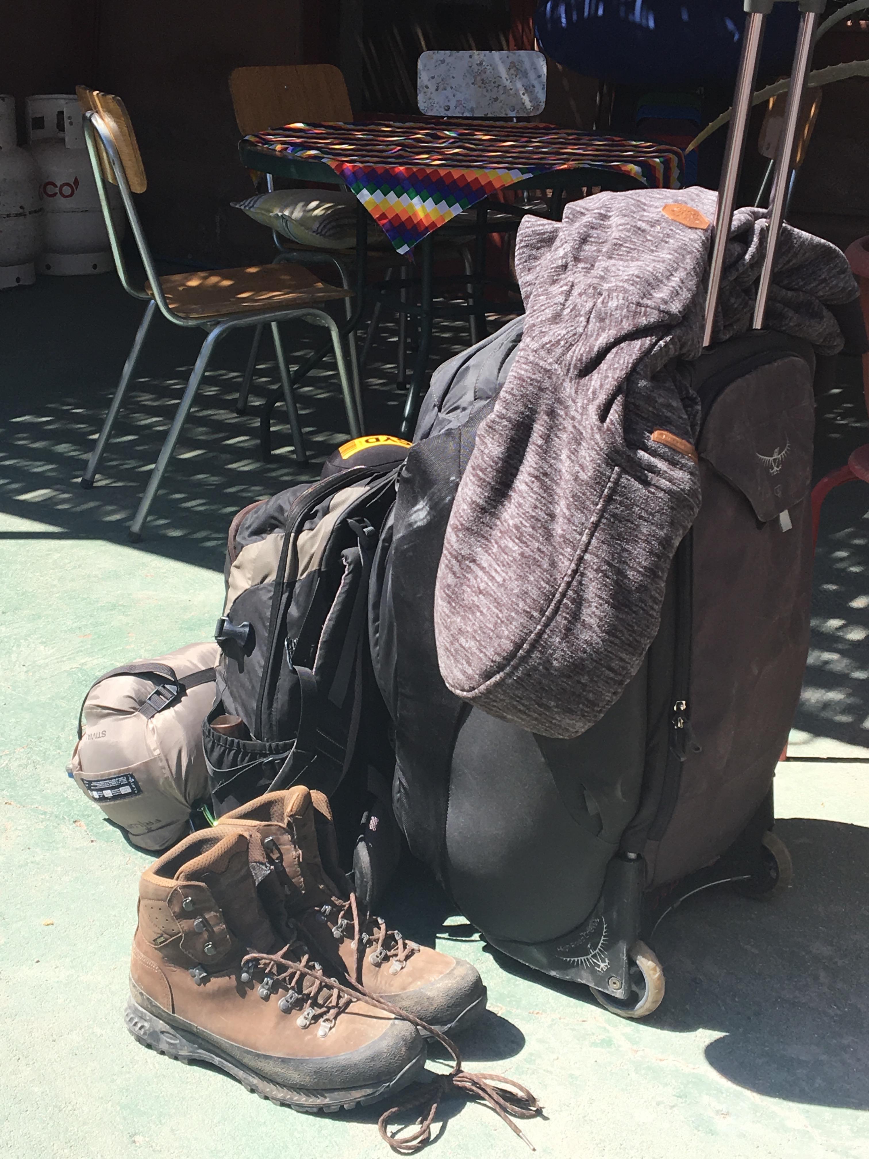 Renés Gepäck für Südamerika